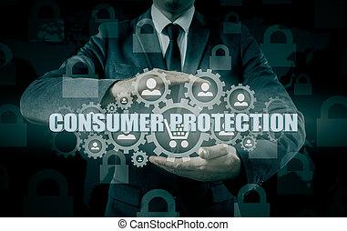 concept., 取引しなさい, 保護安全, goods., 消費者, 保険