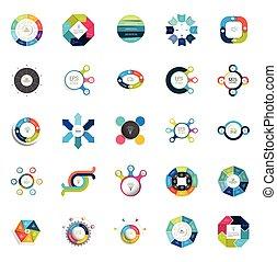 concept., 図, プレゼンテーション, グラフ, ラウンド, セット, mega, テンプレート, ...