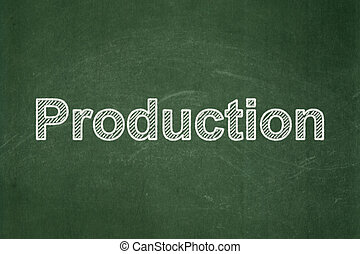 concept:, 生産, 背景, 黒板, ビジネス