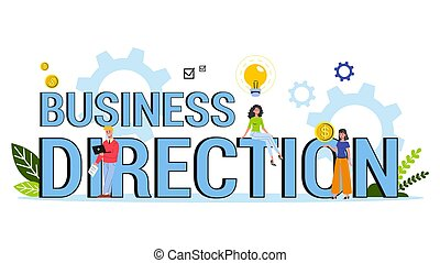 concept., 網ビジネス, 方向, 考え, 旗, 選択