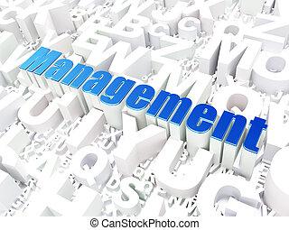 concept:, 背景, 管理, ビジネス, アルファベット