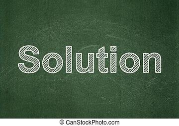 concept:, 背景, 解決, ビジネス, 黒板