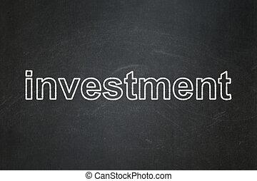 concept:, 背景, 黒板, ビジネス, 投資