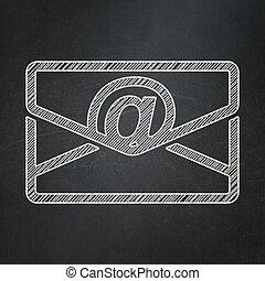 concept:, 背景, 黒板, ビジネス, 電子メール