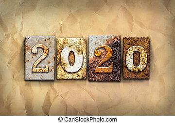 concept, 2020, geroeste, metaal, type