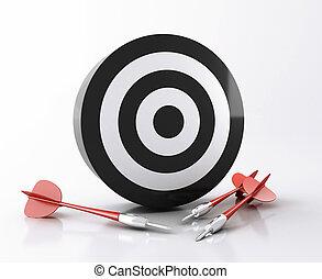 concept., 3d , στόχος , επιτυχία , arrows.