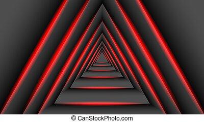 concept, 3d, technologie, triangulaire, overlaps, illustration, light., rouges, ombre, vecteur
