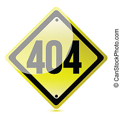 Concept 404 error. Page not found.