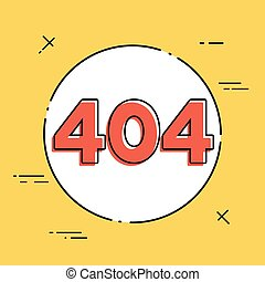 concept, -, 404, vector, fout, minimaal, pictogram