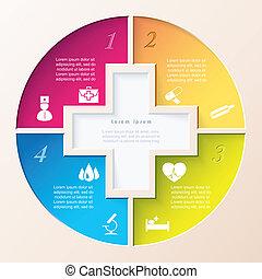 concept, abstract, illustratie, vector, icons., gezondheidszorg, geneeskunde, medisch