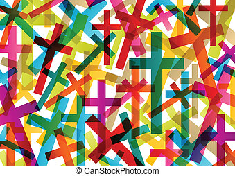 concept, abstract, kruis, christendom, religie, vector, ...