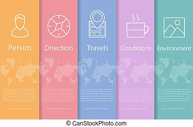 Concept  abstract travel