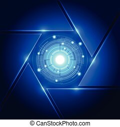 concept, abstract, vector, achtergrond, digitale technologie