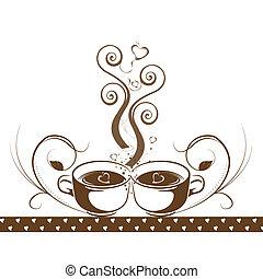 concept abstrait, café
