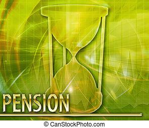 concept abstrait, pension, illustration, numérique