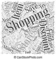 concept, achats, argent, quoique, sm, mot, sauver, nuage