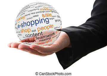 concept, achats, internet