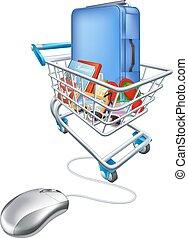 concept, achats, vacances, internet