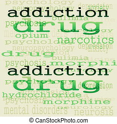 concept addiction background