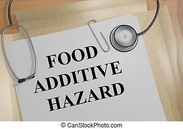 concept, additif, nourriture, monde médical, danger, recherche