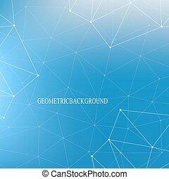 concept, adn, toile fond., dots., system., communication, monde médical, atome, molécule, lignes, arrière-plan., vecteur, connecté, nerveux, illustration., neurons., illusion, structure, scientifique