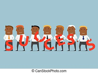 concept affaires, créer, reussite, équipe