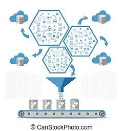 concept., affari, amministrazione, database, intelligenza, elaborazione