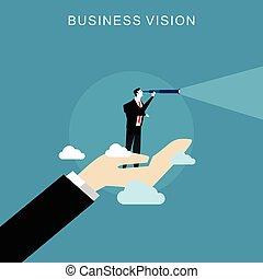concept., affari, visione