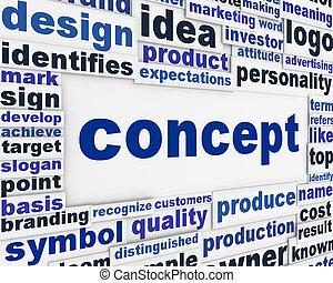 concept, affiche, conception