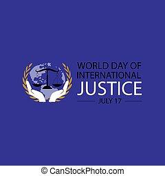 concept., affiche, mondiale, international, jour, justice