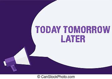 concept, afterwards, tekst, spoedig, boodschap, morgen, uit,...