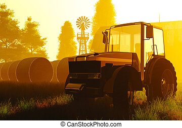 concept, agriculture, render, 3d
