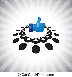 concept, aimer, gens, média, &, icon(symbol), main, vector-, social