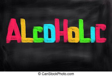 concept, alcoolique