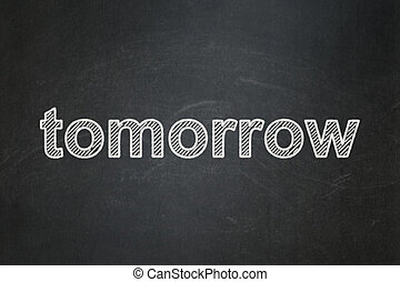 concept:, amanhã,  chalkboard, fundo, tempo