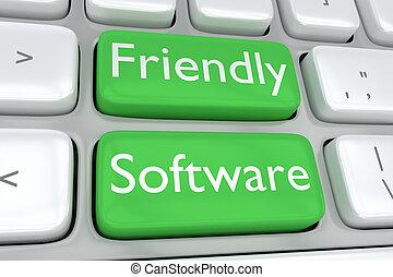 concept, amical, logiciel