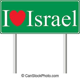 concept, amour, panneaux signalisations, israël