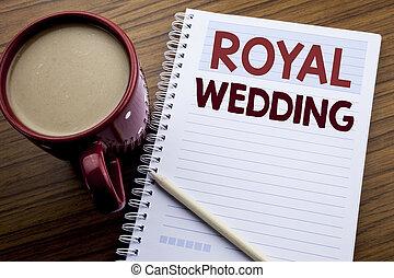 concept, angleterre, fond, texte, papier, royal, écriture, note, écrit, livre, café, business, projection, bloc-notes, main, wedding., mariage, inspiration, bois, britannique, sous-titre, pen.
