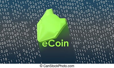 """""""Concept animation, eCoin digital data protection shield."""""""