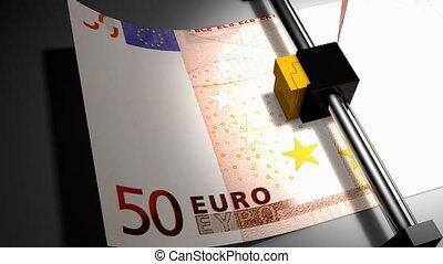 """""""Concept animation, euro money printer"""""""