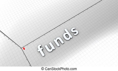 Concept animation, growing chart - Funds.