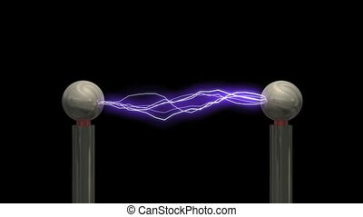 Concept animation Tesla coil, with matte.