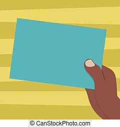 concept, annonce, couleur, texte, papier, conception, vide, espace copy, isolé, gabarit, dessiné, vide, carton, site web, tenue, business, hu, main, analyse, vecteur, présentation