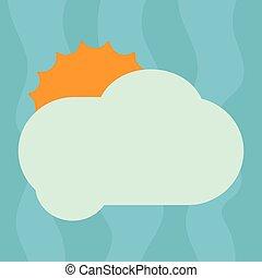 concept, annonce, couleur, texte, pelucheux, conception, vide, nuage, briller, annonces, espace, soleil, isolé, derrière, gabarit, vide, site web, business, affiche, copie, dissimulation, vecteur