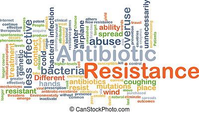 concept, antibiotique, résistance, fond