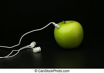apple player on a black