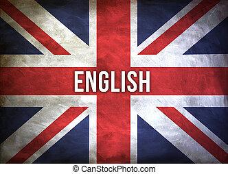 concept, apprendre, anglaise