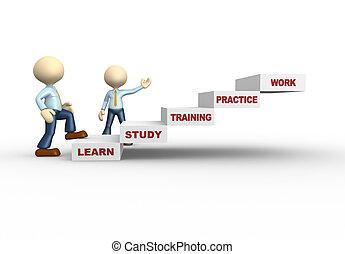concept, apprendre