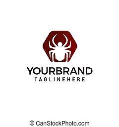 concept, araignés, vecteur, conception, gabarit, logo