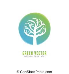 concept, arbre, élément, vecteur, conception, logo
